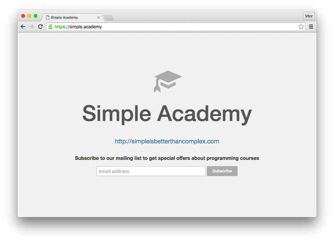 Simple Academy HTTPS