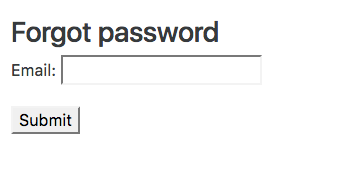 How to Create a Password Reset View