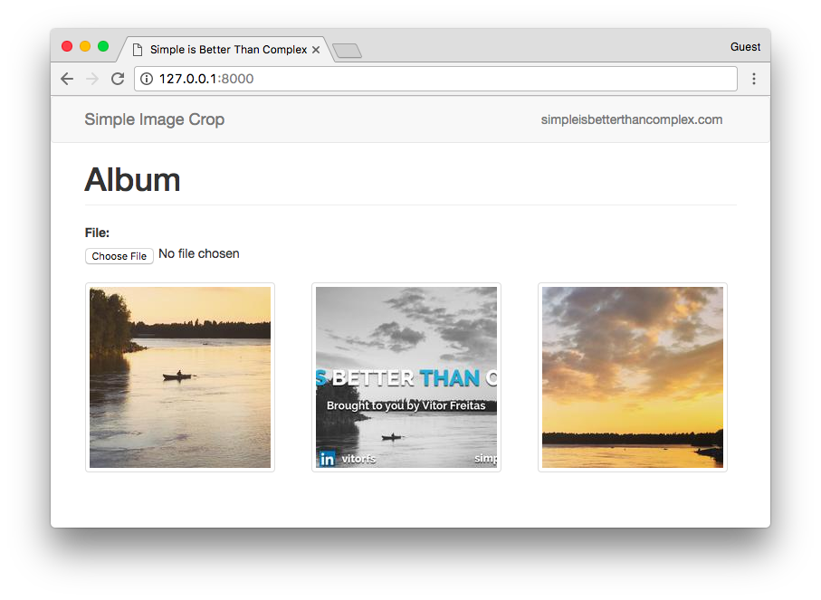How to Crop Images in a Django Application