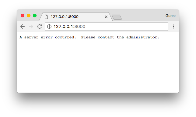 A server error occurred. Please contact the administrator.