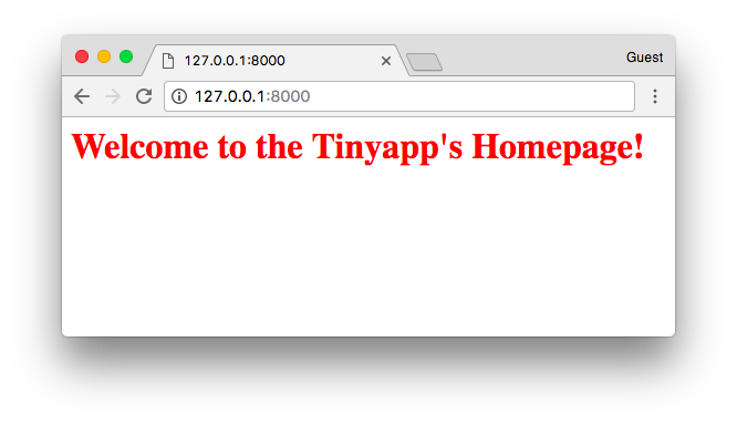 Welcome to the Tinyapp's Homepage!