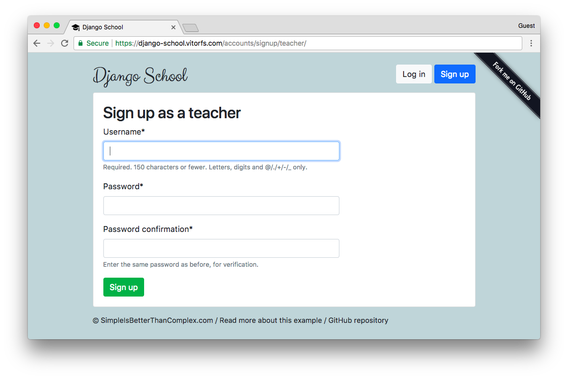 Teacher Sign Up