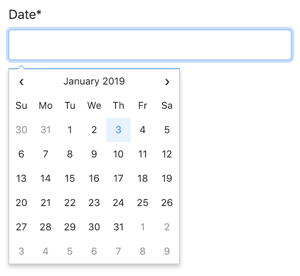 Fengyuan Chen's Datepicker