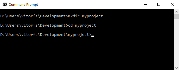 Create myproject folder