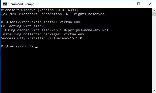 pip install virtualenv