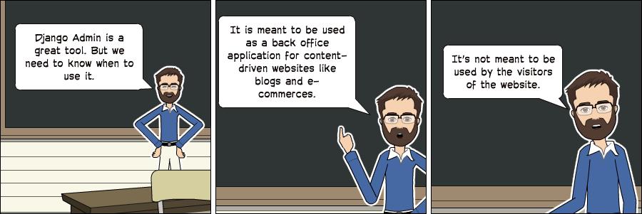 Django Admin Comic