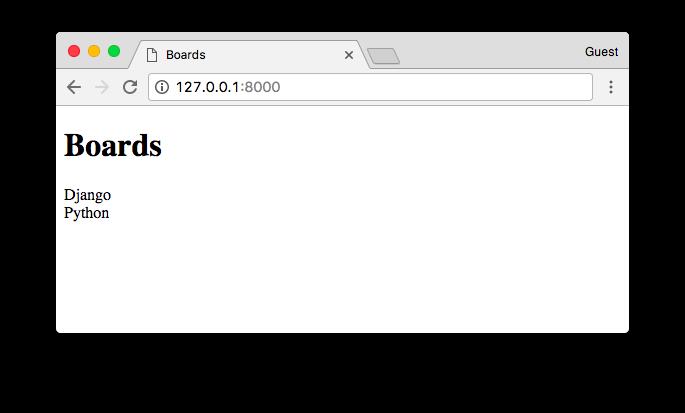 Boards Homepage render