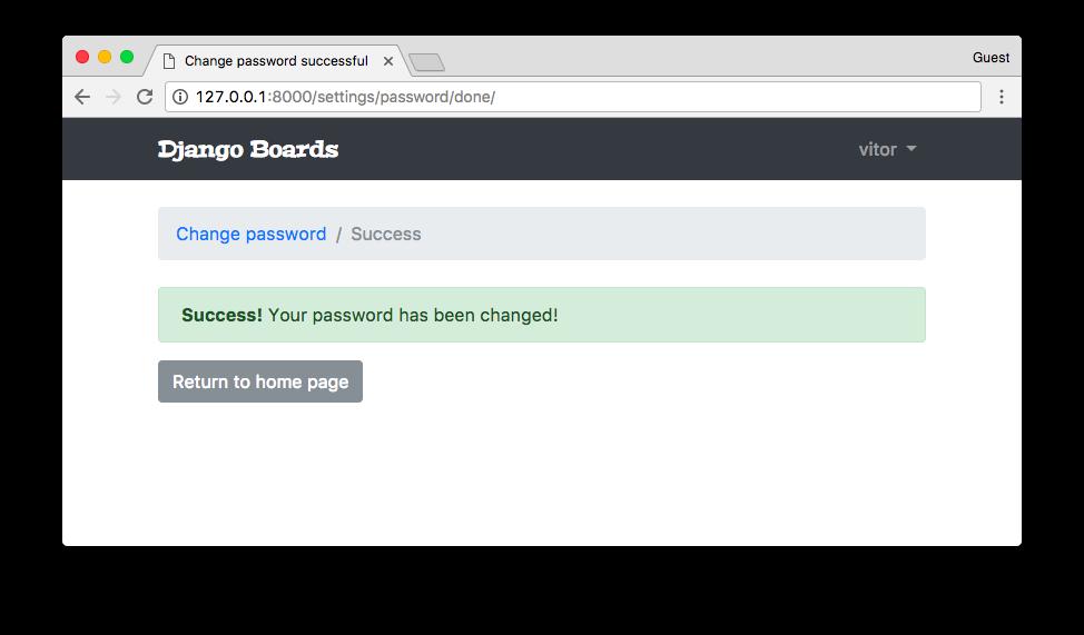 Change Password Successful