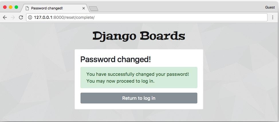 Password Reset Complete